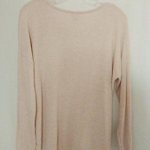 A New Day Heathered Pink Top Size Medium
